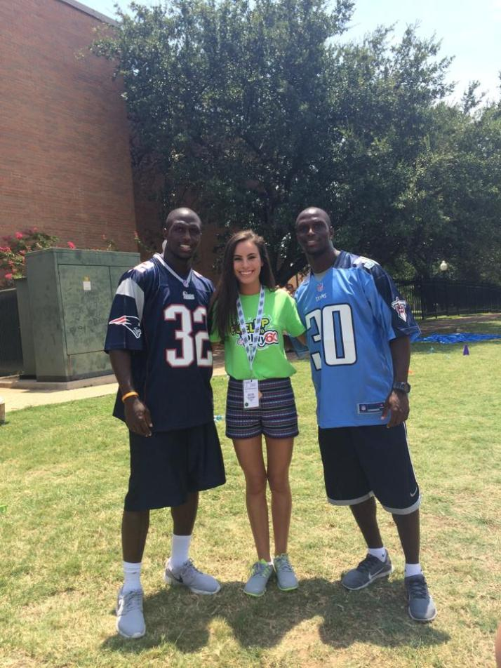 Jason McCourty from the Tennessee Titans and Devin McCourty from the New England Patriots! (and yes, they are twins!)
