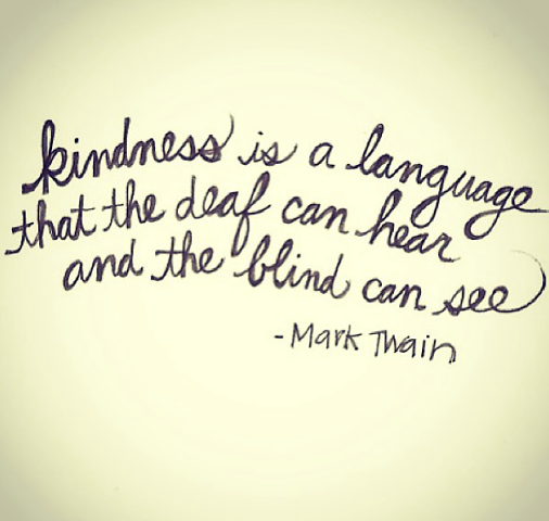 kindess is a language